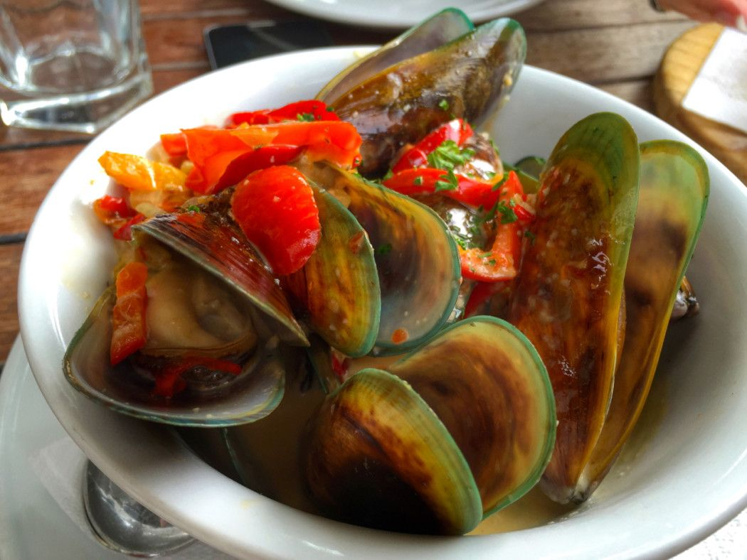 Green-lipped mussels in New Zealand