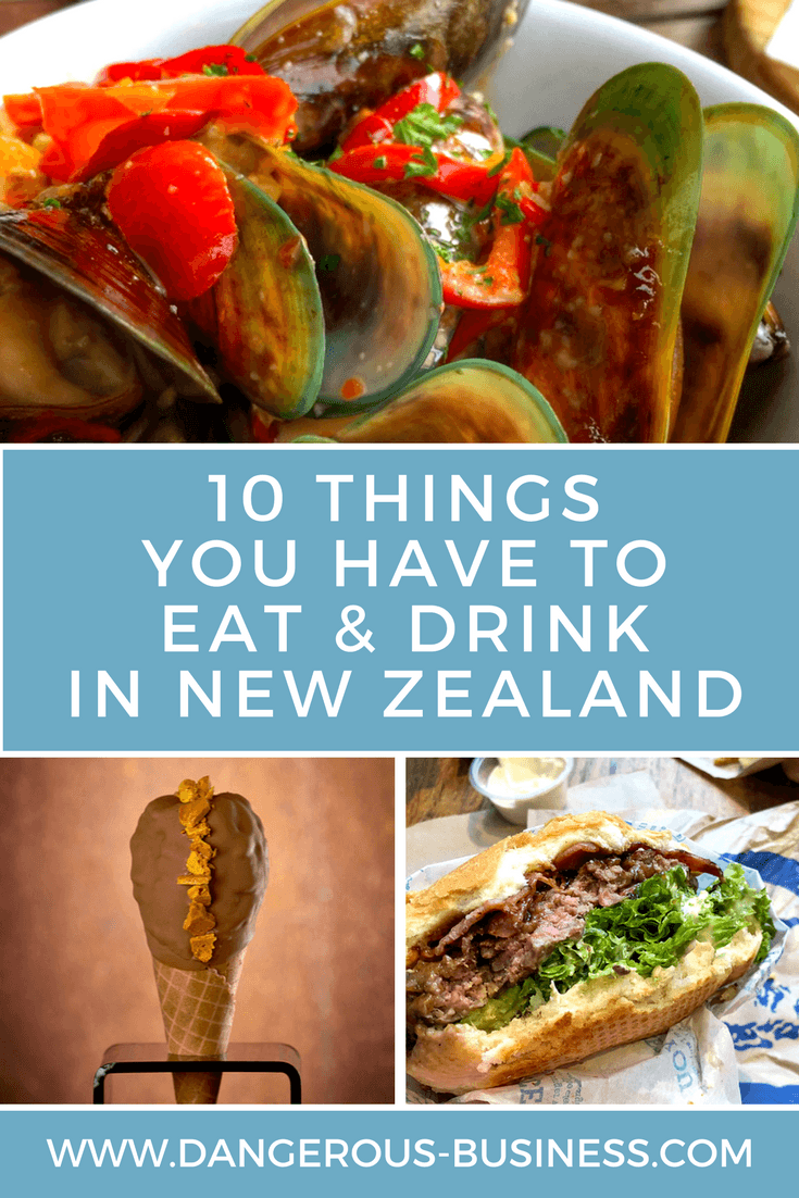 Top things to eat and drink in New Zealand