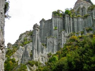 Putangirua Pinnacles in New Zealand