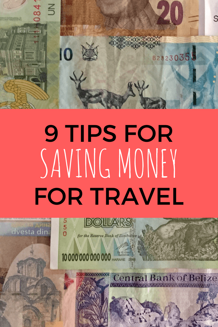 Tips for saving money for travel