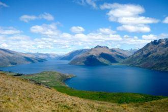 Lake Wakatipu in New Zealand