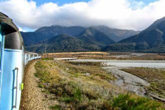 TranszAlpine train in New Zealand