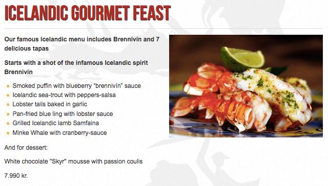 Icelandic Gourmet Feast