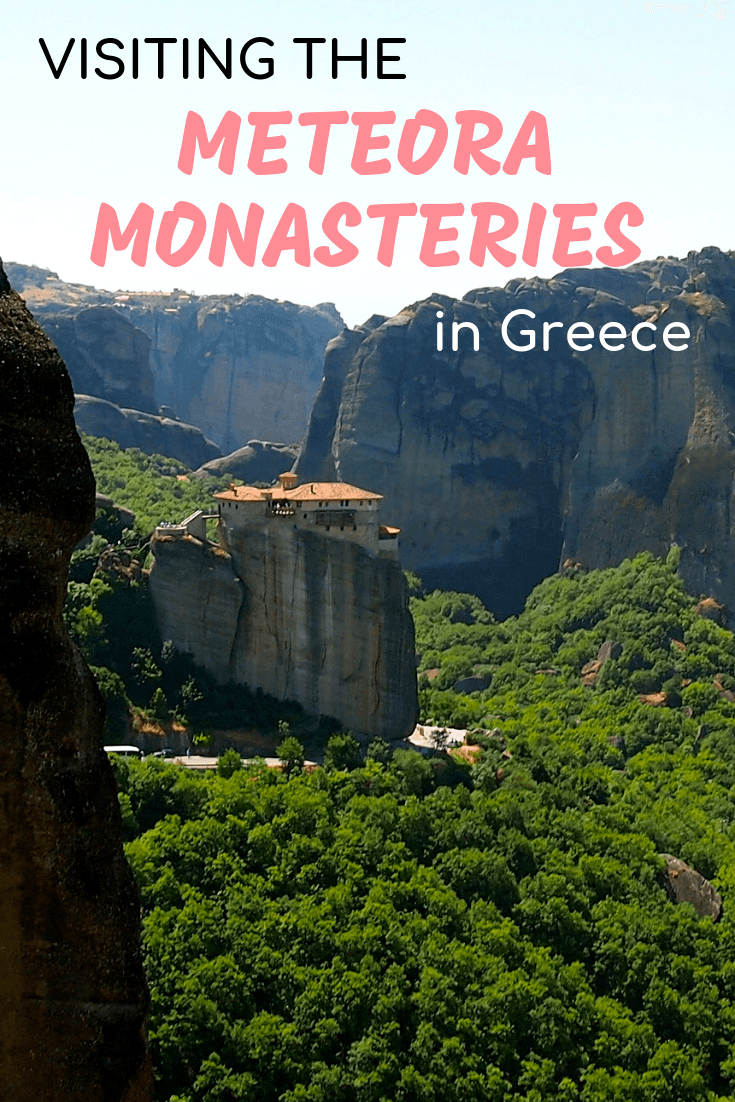 Visiting the monasteries in Meteora, Greece
