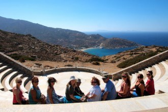 Intrepid Travel tour group in Greece
