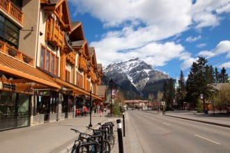 Banff village in Alberta, Canada