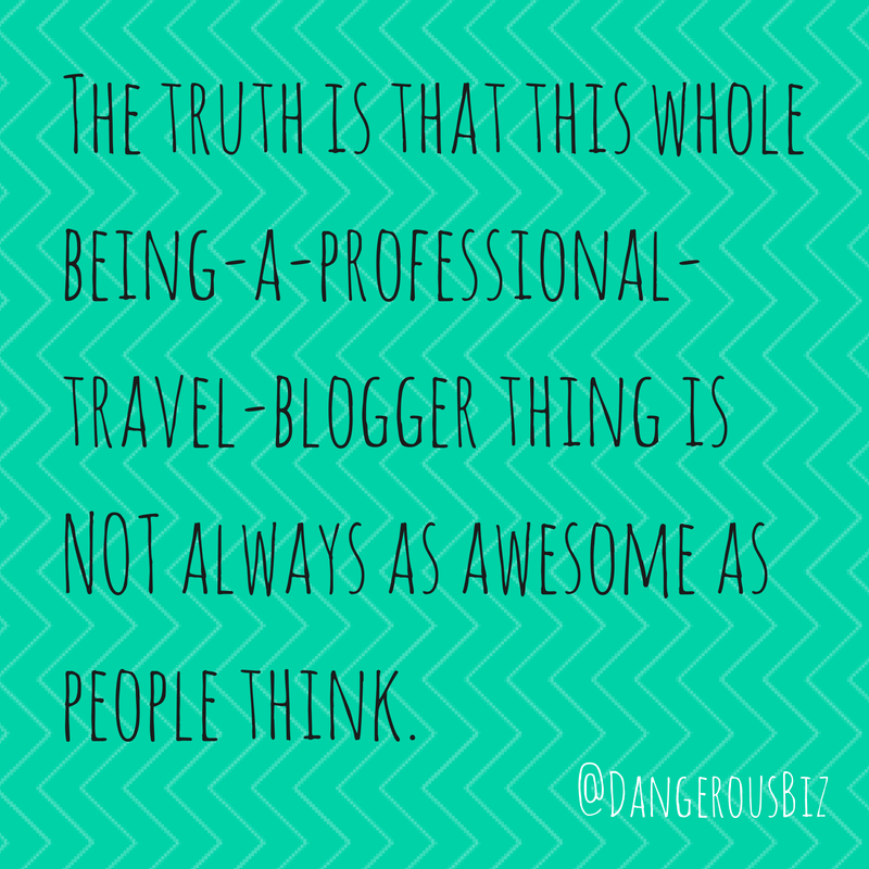 The truth about travel blogging