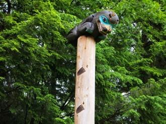 Totem pole at Totem Bight State Park