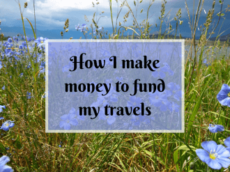 How I fund my travels