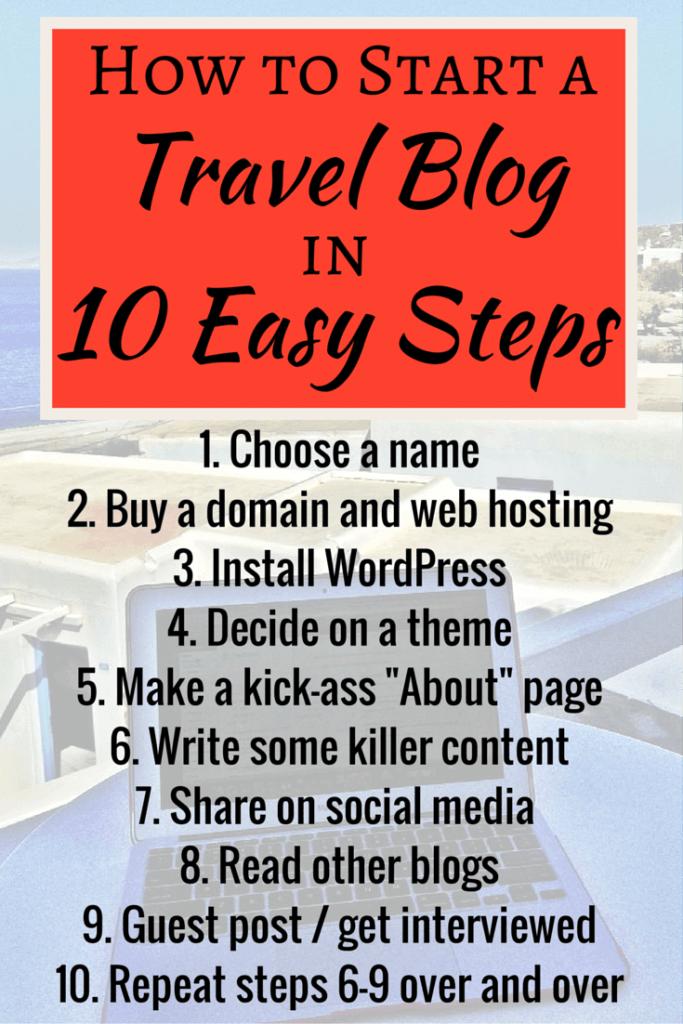 Starting a travel blog