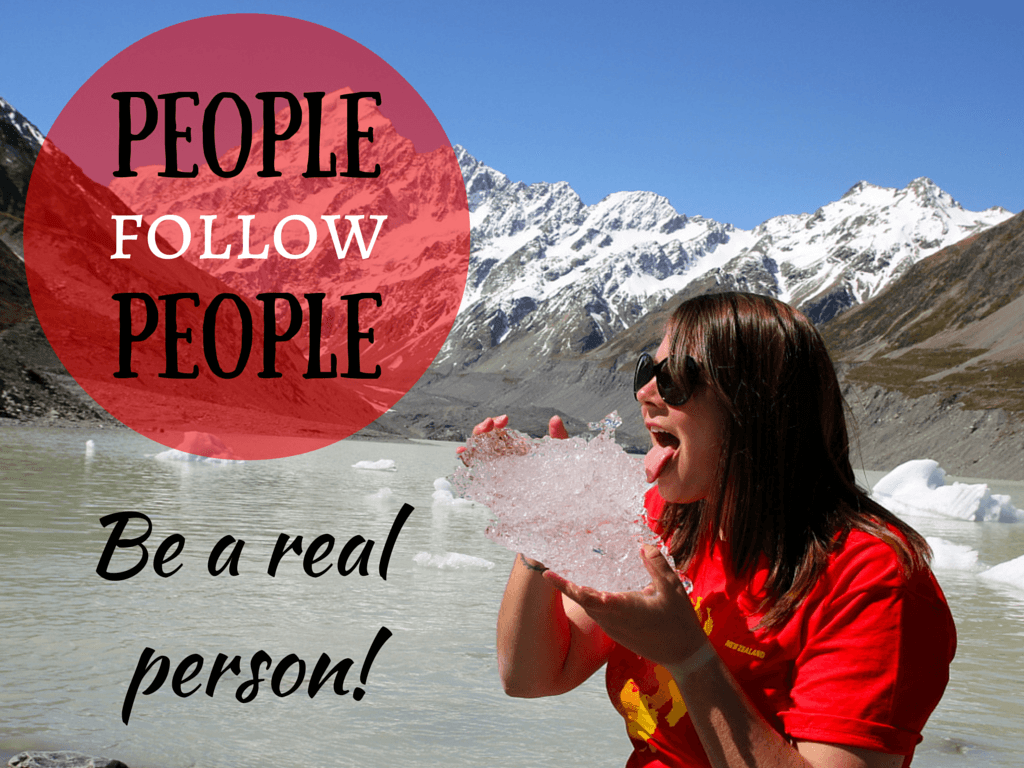 People follow people