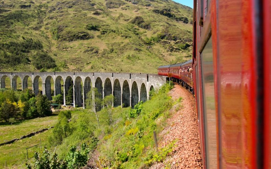 Riding the Harry Potter Train in Scotland