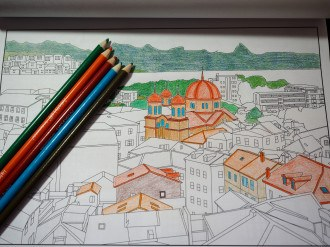 Travel coloring book