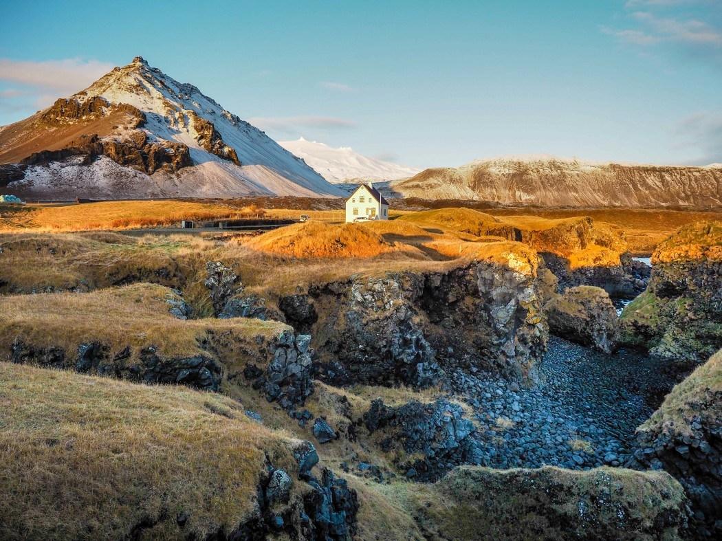 Arnarstapi village in Iceland