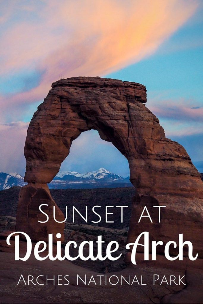 Hiking to Delicate Arch at sunset