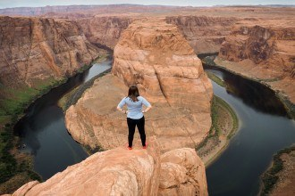Inspiration at Horseshoe Bend in Arizona