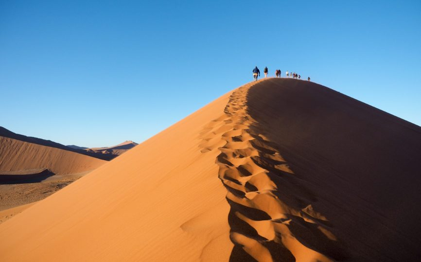 A Day in the Sand in Namibia