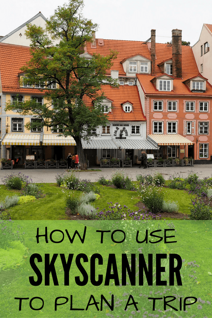 Planning a trip using Skyscanner