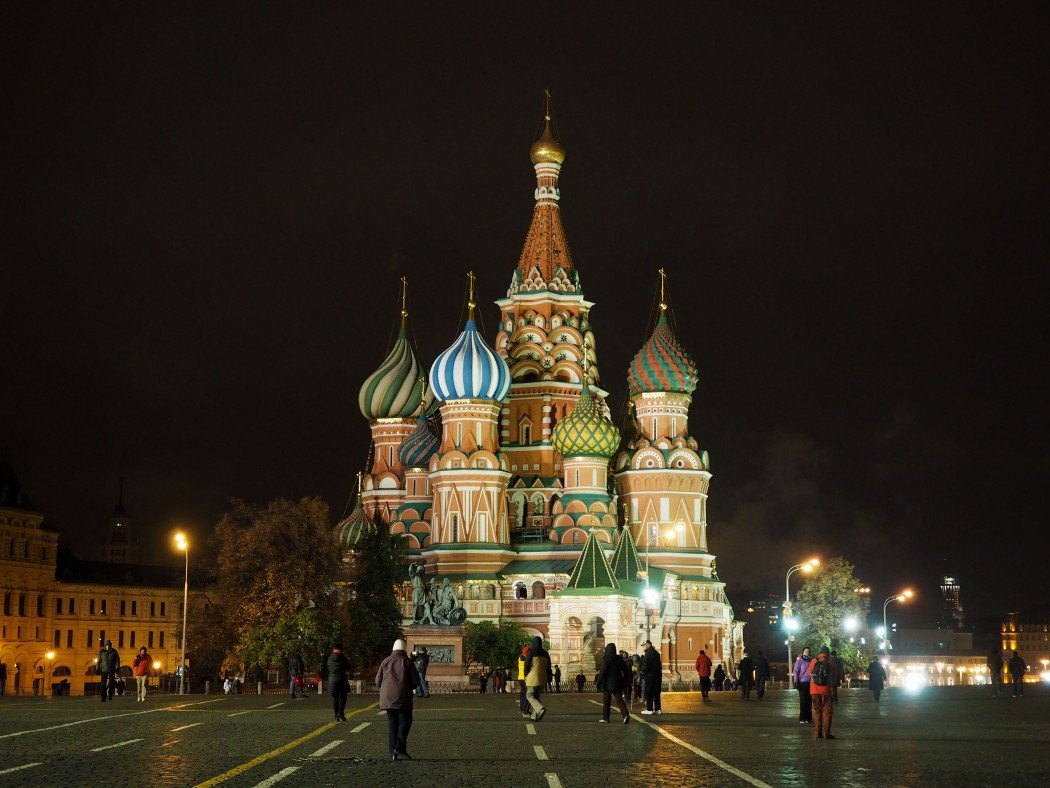Red Square in Moscow, Russia at night