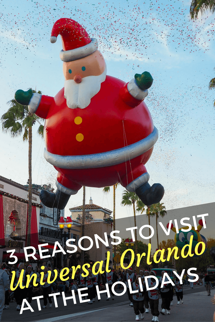 Visiting Universal Orlando around the holidays