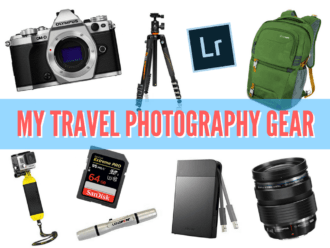 Travel photo gear