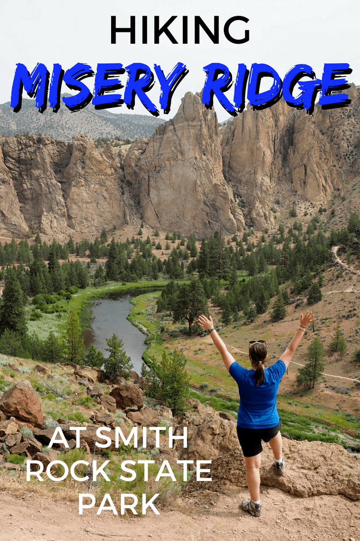 Hiking the Misery Ridge Trail at Smith Rock State Park in Oregon