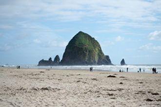 Haystack Rock at Cannon Beach in Oregon