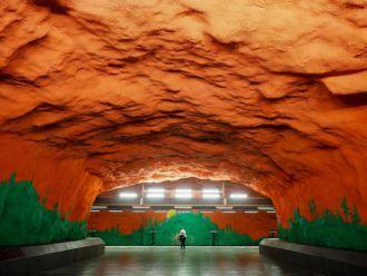 Solna Centrum metro station in Stockholm