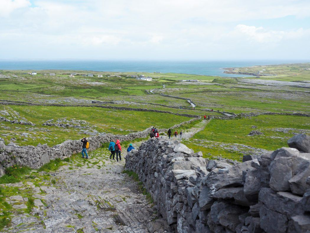 The island of Inishmore in Ireland
