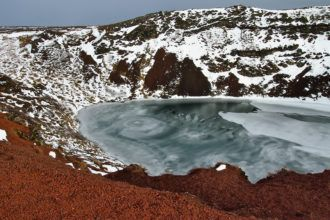 Volcano crater in Iceland
