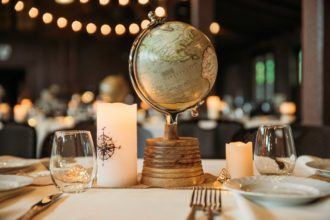 Travel-themed wedding