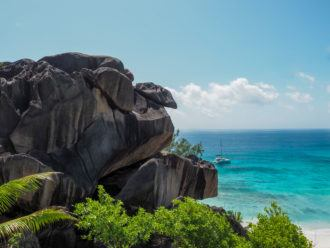 Grand Anse Beach on La Digue in the Seychelles