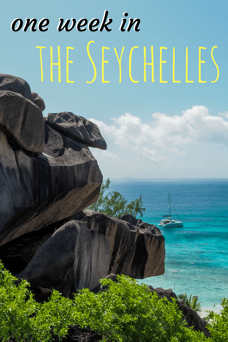 Travel itinerary for one week in the Seychelles