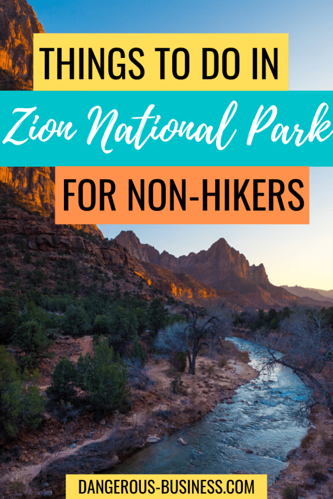 Zion National Park for non-hikers