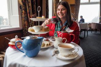 Afternoon tea at Chateau Tongariro