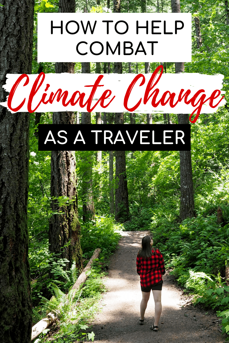 Ways to help combat climate change as a traveler