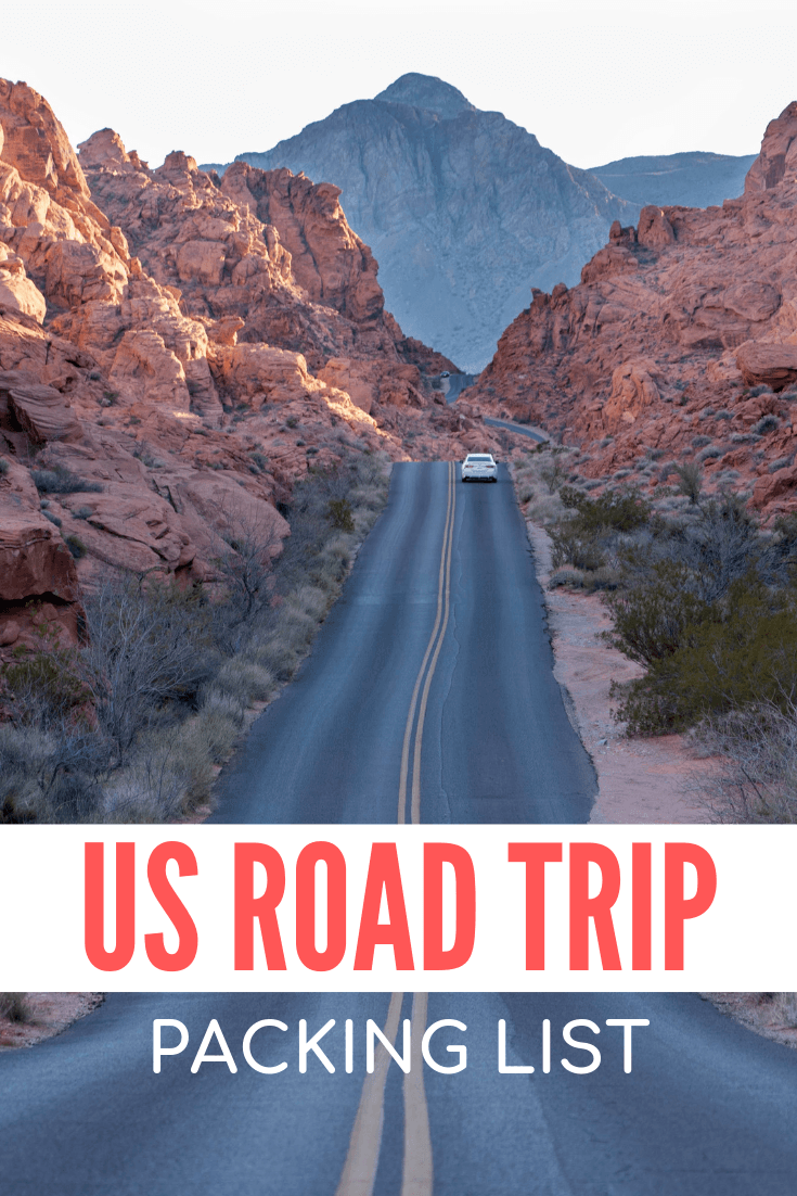 USA road trip packing list