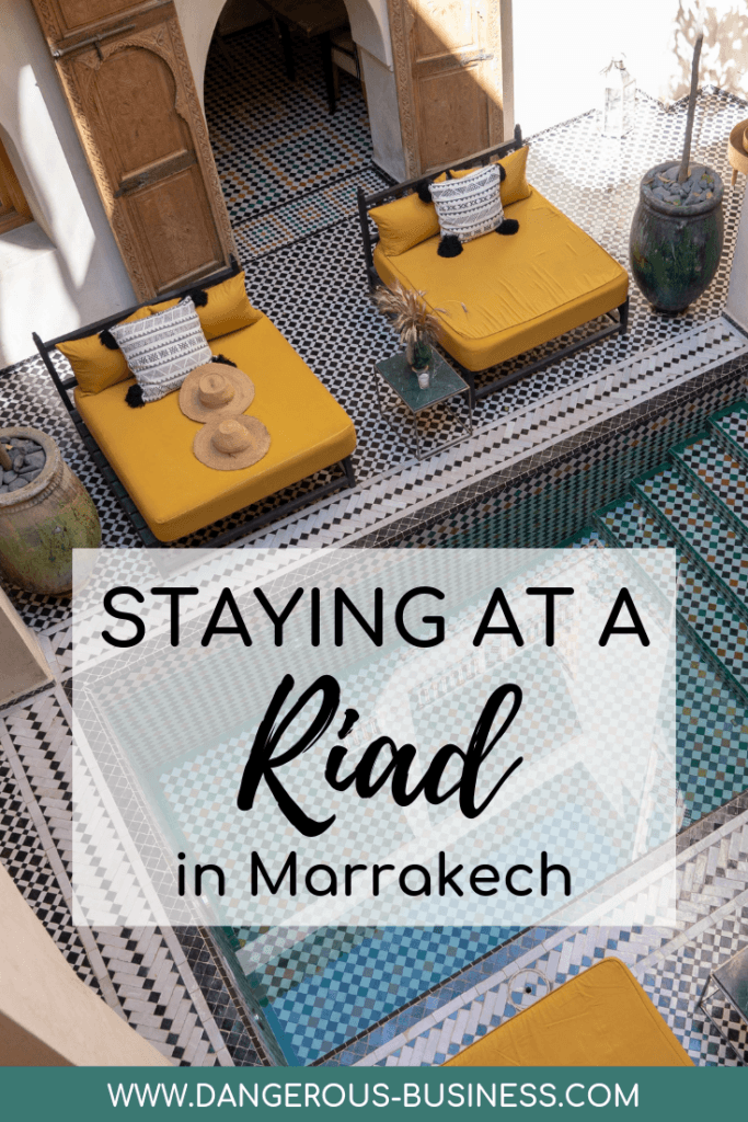 Staying in a riad in Marrakech