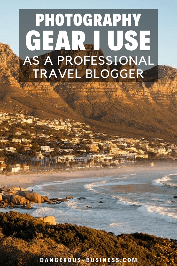 Photography gear I use as a travel blogger