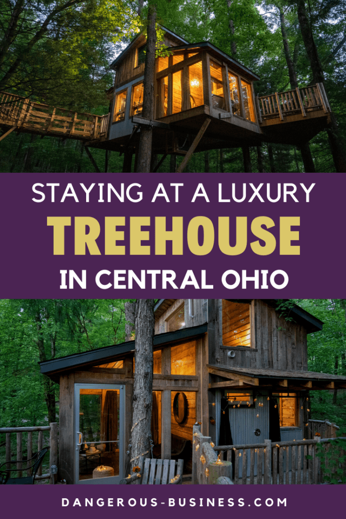 Staying at a luxury treehouse in Ohio