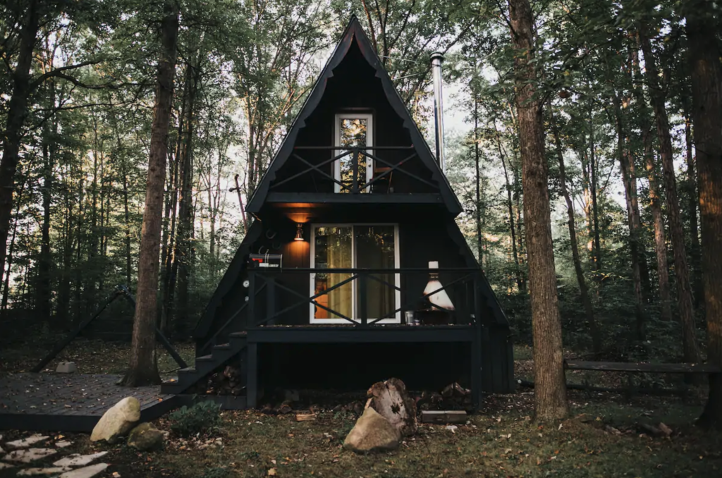 Triangle A-frame cabin